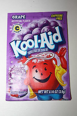5 x US Kool-Aid Unsweetened Soft Drink Mix GRAPE Flavor
