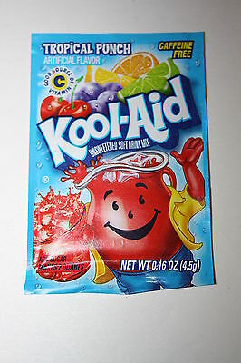 5 x US Kool-Aid Unsweetened Soft Drink Mix TROPICAL PUNCH Flavor