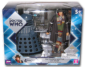 """Doctor Who 5"""" 4th Dr and Genesis of the Daleks Dalek Action Figure Set"""