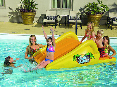 Water Slide For Pool Inground Swimming Inflatable Floating Island Children Kids