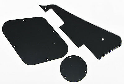 Black 3 Ply LP Pickguard & Back Plate Switch Cavity Covers for Epiphone Les Paul