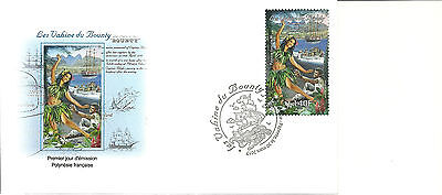 New Issue  Fine French Polynesia Bounty Vahine Fdc 2017