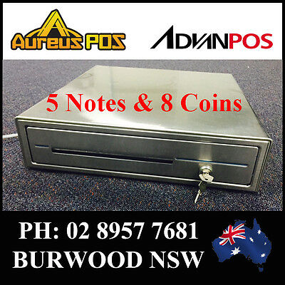 BRAND NEW ADVANPOS CK410 STAINLESS STEEL CASH DRAWER for POS System