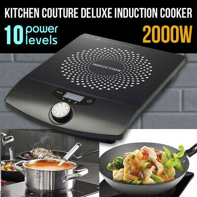 2x 2000W Electric Induction Cooktop Portable Cooker Kitchen Hot Plate Cook Top