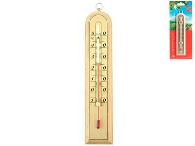HOME Innen- / Au�enthermometer hellem Holz Messger�t Temperatur Thermometer