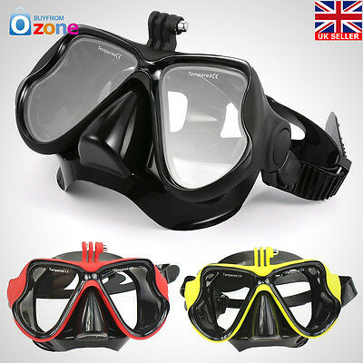 Diving Glasses Scuba Snorkeling Face Mask Mount For Gopro Hero 4 3+ 3 2 Camera