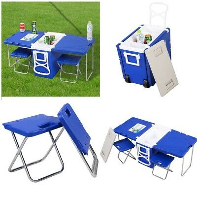 Portable Folding Camping Table Chairs Cooler Outdoor PicNic Fishing Hunting New
