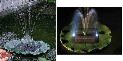 Floating Lily Solar Pond Pool Water Fountain pump 505B