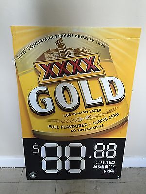 XXXX Four X Gold Beer Sign Pub Man Cave Collectable Home brew