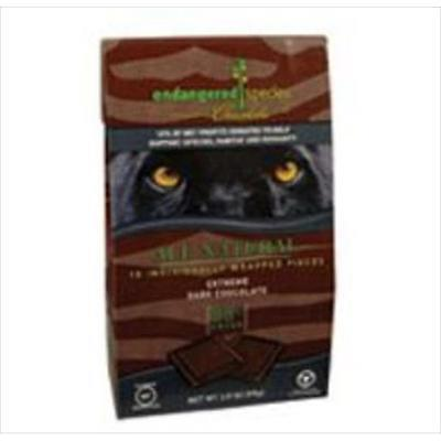 Endangered Species Bite Size Dark Chocolate Panther 10 Ct -Pack of 6