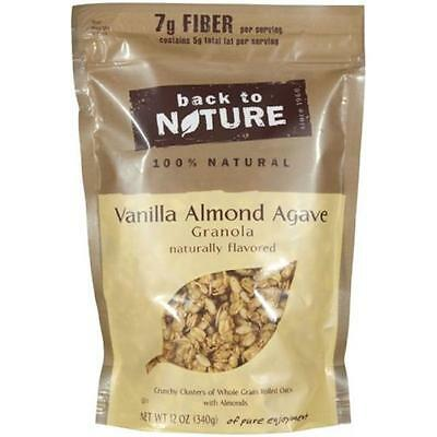 Back To Nature Granola Vanilla Almond Agave 12 Oz (Pack of 6)