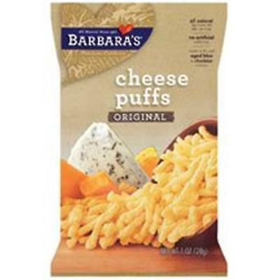 Barbaras Bakery Gluten-Free Natural Cheese Puffs 1 Oz. -Pack of 24
