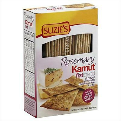 Suzies Kamut Flatbreads With Rosemary 4.5-Ounce Boxes -Pack of 12