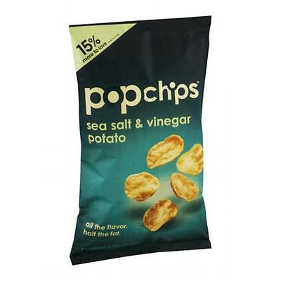 Popchips Sea Salt And Vinegar Potato Chips 3.5 Ounce (Pack of 12)
