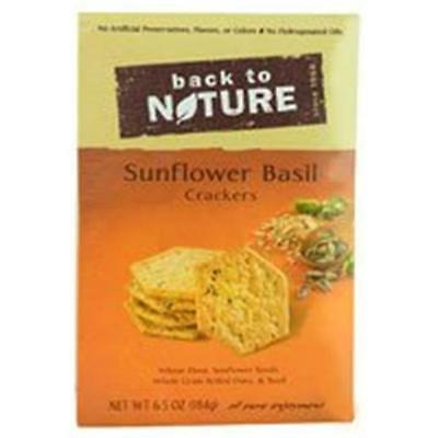 Back To Nature Crackers Sunflower Basil 6.5 Ounce (Pack of 6)