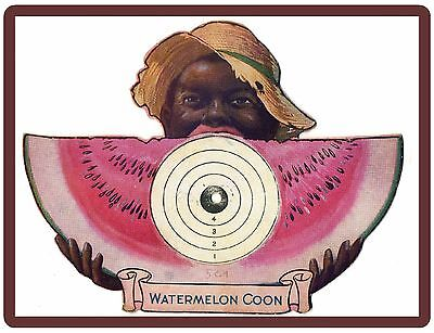"1918 Watermelon Coon Black Americana Ad NEW! Large 8"" x 10""  Refrigerator Magnet"
