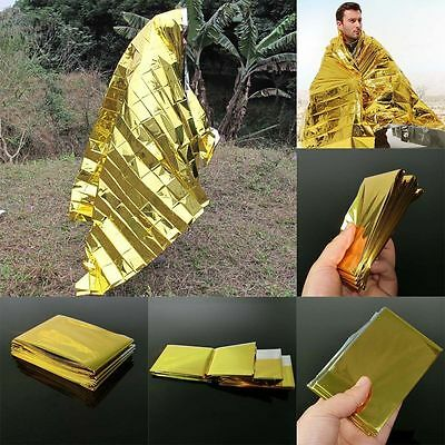 10 pcs advance emergency blanket camping survival thermal Foil first aid kit