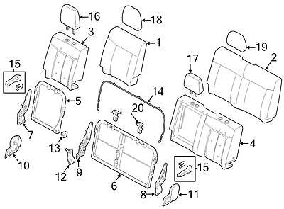 Ford OEM Headrest BC3Z26611A08B Image 17