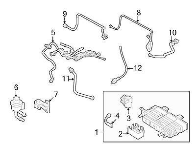 Ford OEM Evaporative Emissions System Lines AE5Z9A228B Image 5