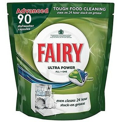 Fairy All In One Capsules Tablets Dishwashing Lemon Pack 90 For Dishwasher