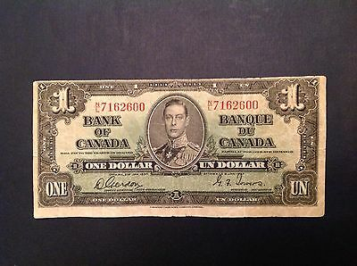 Canada 1 One Dollar 1937 George VI - Gordon Towers