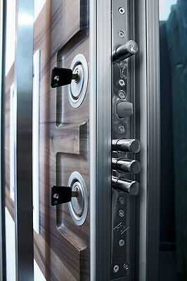 Custom Steel Entry Security Vault Door Iron Wood Finishes 20 Dead Bolts