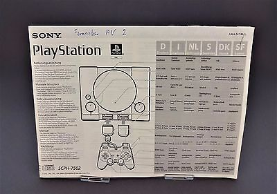 PS1 *SCPH-7502 Bedienungsanleitung / Handbuch* Instruction Manual / Playstation