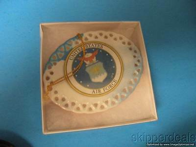 Veterans Military Hanging Glass Ornament United States Air Force Since 1947 New