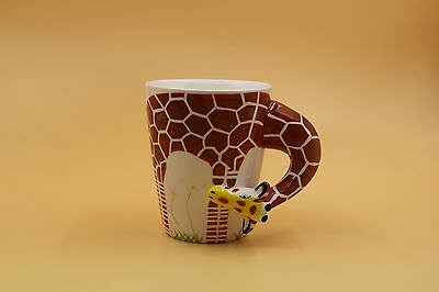 ASVP Shop Ceramic Mug Available with Various 3D Hand-Painted Animal Designs
