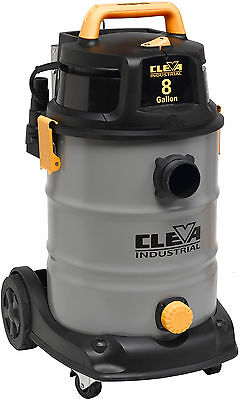Cleva 30 L / 8 US Gallon 2 Stage Industrial Wet Dry Vacuum 2.5 inches Hose
