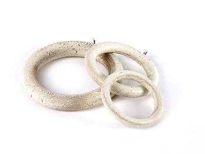 Seconds Wooden curtain pole rings 40 47 50 & 63mm