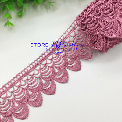 FP136H 1 Yard Lace Trim Ribbon For Dress Veil skirt Embroidered Sewing DIY Craft