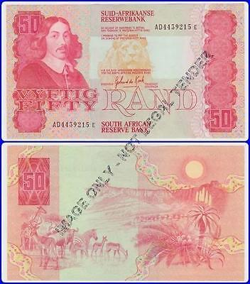 South Africa Fifty Rand GPC De Kock UNC banknote 3RD issue #AD4439215