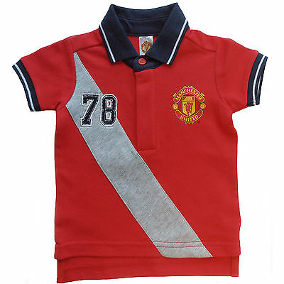 Manchester United, Man Utd Fc Baby T-Shirt Polo T-Shirt Official Product