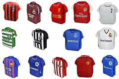 Official Various Football Club- Kit Shirt Shape School Lunch Bag New Gift Xmas