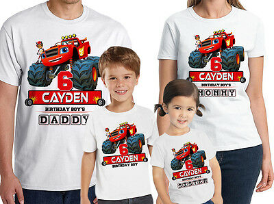Blaze and the Monster Machine Birthday Shirt Custom Name and Age Personalized