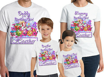 Personalized Shopkins Birthday Shirt Custom Name and Age Shopkins Family tees 11