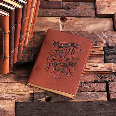 Personalized Leather Notebook Journal Gift Birthday Mother Dad Friends Wedding
