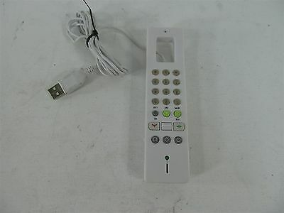 SKYPE VoIP HANDHELD PHONE WHITE USB COMPUTER RECEIVER
