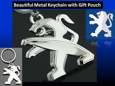 Peugeot 107, 206, 207, 208, 308 Beautiful Car keychain key ring + Gift Pouch