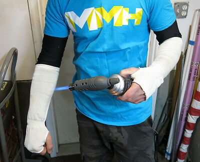 """Welding Arm Sleeves KNIT KEVLAR 14"""" Heat protection PPE Mechanic better Leather"""