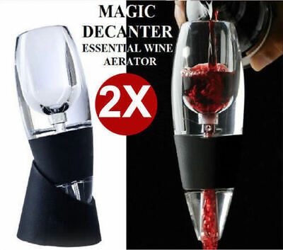2x New Magic Decanter Essential RED Wine Aerator Sediment Filter AU