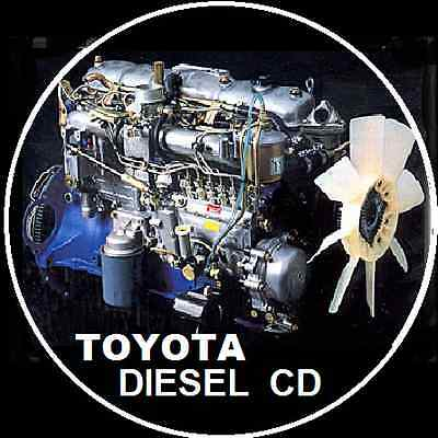 Toyota Diesel Engine Repair Manual 2L 3L 2H 2B 12Ht 1Hd 1Hz 1Pz 1Kz 1Vd Ftv Cd