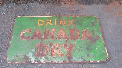 """Vintage """"Drink Canada Dry"""" Painted Sign  5 feet x 35 Rare"""