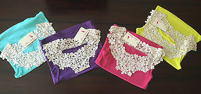 Toddler Girls Knit Crochet Lace Ribbed Cute Tank Top Pink Purple Teal Size 2T-7