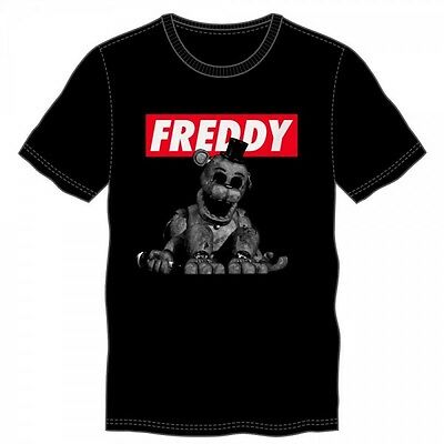 Five Nights At Freddy's Black Tee M  - BRAND NEW