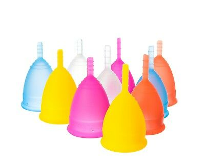 Lunette Menstrual Cups TGA Approved Silicone Model 1 or Model 2 & Choose colour