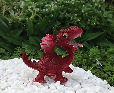 Miniature Dollhouse FAIRY GARDEN ~ Mini RED Dragon Figurine ~ NEW