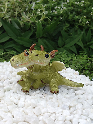 Miniature Dollhouse FAIRY GARDEN Dragon ~ Mini Dragons Hugging Figurine ~ NEW