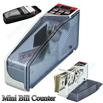 Portable Mini Cash Count Money Currency Counter V40 Different Bill Available V40
